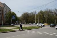 Вид на площадь Троицкую с проспекта Ермака. Апрель 2013
