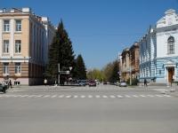 Вид на улицу Атаманскую с проспекта Платовского. Апрель 2013