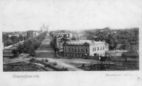 Вид с Троицкой площади на Проспект Ермака
