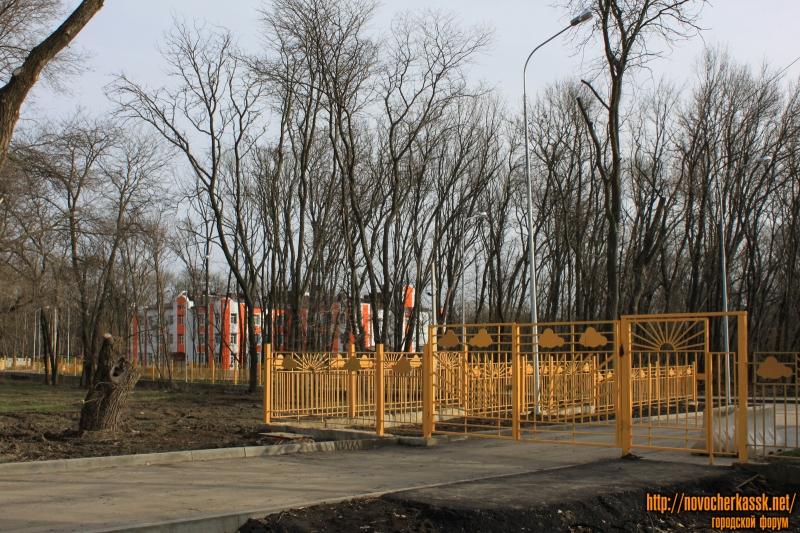 Въезд в новый детский садик на Баклановском