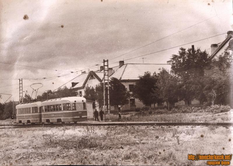 Трамвай на углу Котовского и Южной (Мацоты)