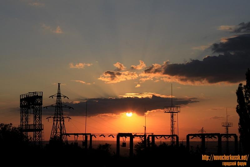 Закат над улицей Будённовской