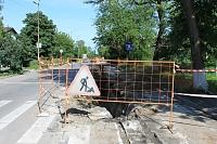 Замена водопровода на улице Буденновской