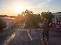 Памятник Ермаку на закате