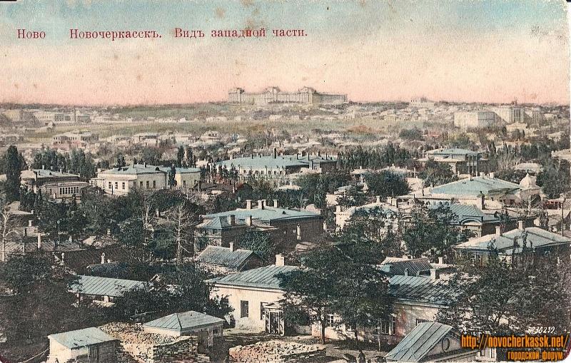 Вид  центральной части, примерно со здания нынешнего театра, на запад