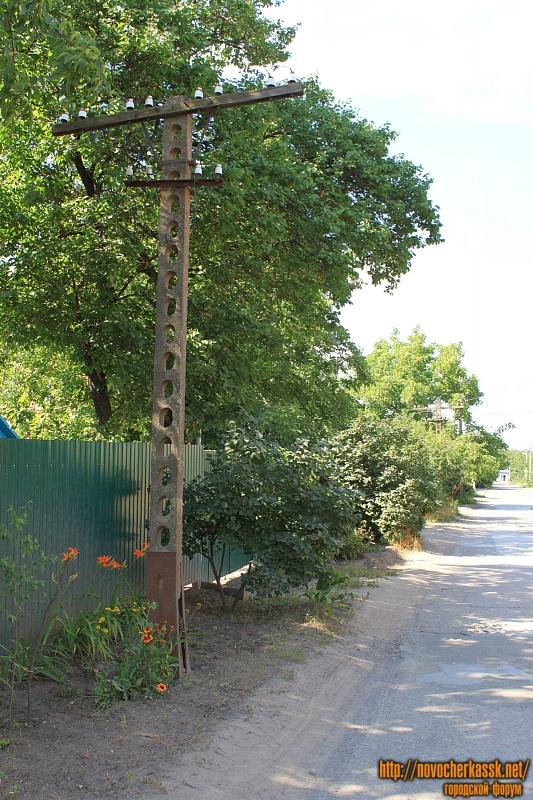 Столб на улице Ветеринарной