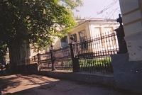 Забор торгового техникума на Московской