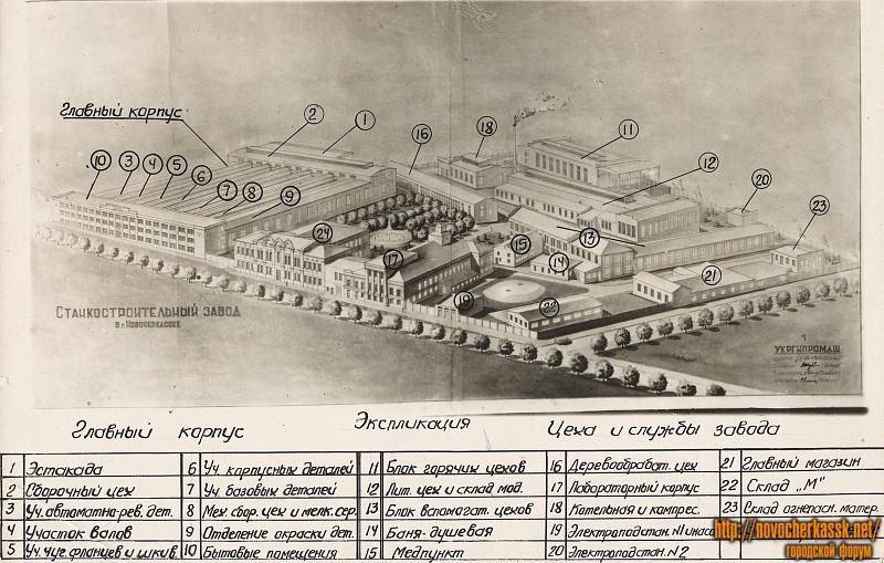 План станкостроительного завода