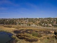 Вид на место, где располагался городской пляж на реке Аксай