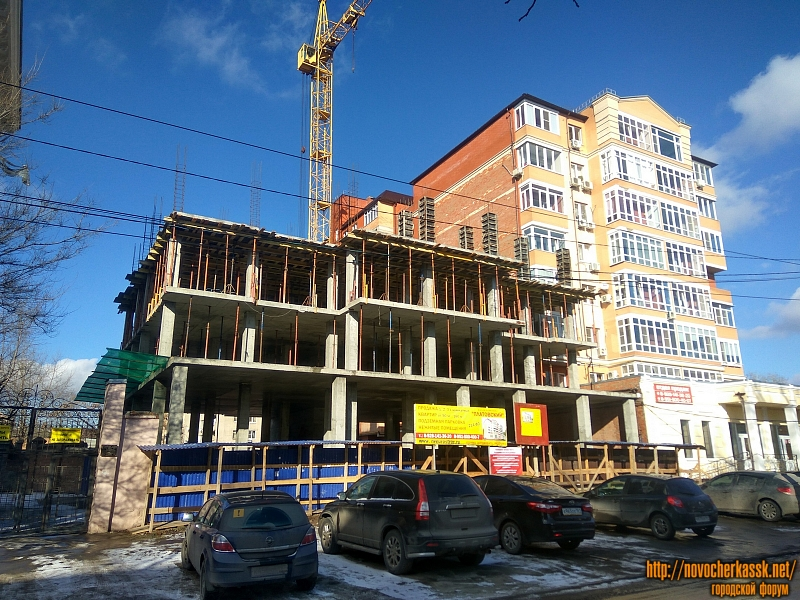 Строительство  ЖК «Платовский», ул. Просвещения