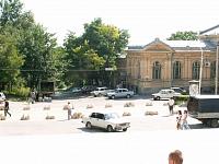 Улица Просвещения, вид со ступеней главного корпуса ЮРГТУ