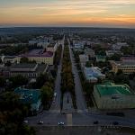 Проспект Платовский на закате