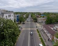 Улица Московская. Вид в сторону Платовского, пересечение с Просвещения