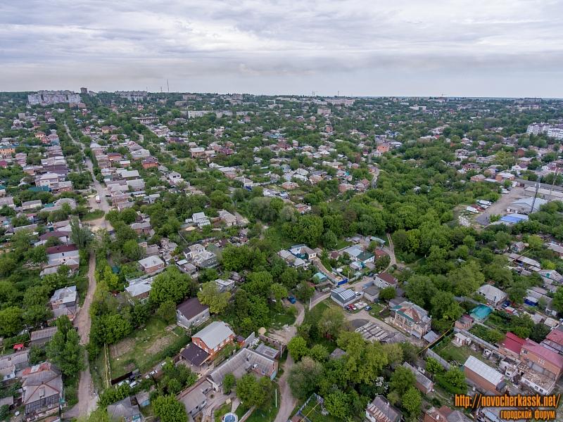 Вид на западную часть города - слева прослеживается улица Крупской