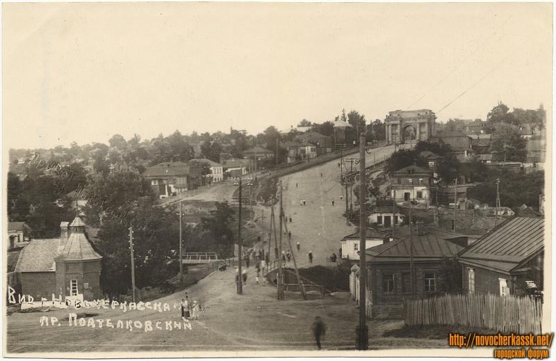 Вид на проспект Подтёлковский (Платовский)