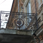 Решетка балкона на улице Пушкинской, 45