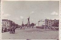 Площадь Ермака в период оккупации Новочеркасска
