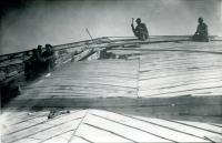 Восстановление купола Главного корпуса НИИ (затем НПИ) после освобождения города