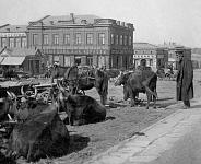 Рынок. Сейчас - пересечение Платовского и Орджоникидзе