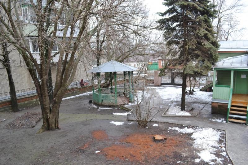Во дворе дома-музея Ивана Ивановича Крылова