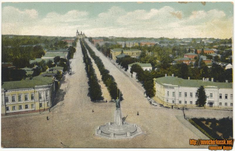 «Ермолаевский проспект». Открытка с ошибкой. На самом деле - Ермаковский. Вид с собора