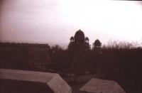 Вид с кургана славы на Александровскую церковь