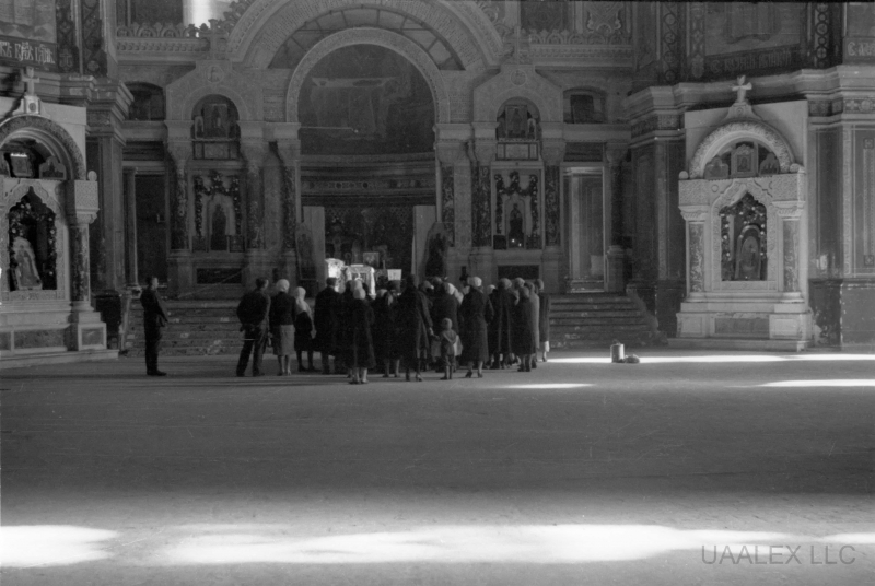 В соборе. Фото времён оккупации города