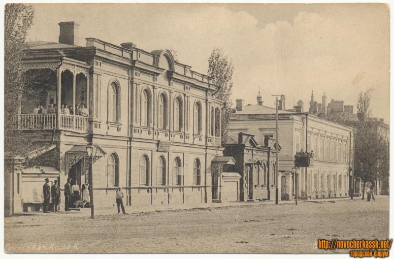Улица Дворцовая. Смешанный пансион Е.Д. Петровой