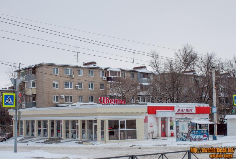 Проспект Баклановский / ул. Ленгника. Цветочный павильон и «Магнит»