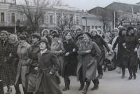 Демонстрация на Платовском проспекте