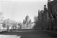 Проспект Платовский в сторону собора. Фото времён оккупации