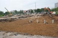 Строительство ТЦ «Батон». Улица Ященко/Баклановский
