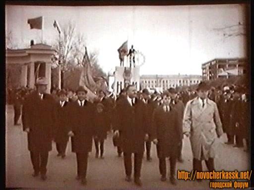 Демонстрация на Платовском проспекте. 1967 год