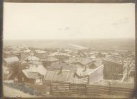 Вид на юго-восток в сторону станицы Кривянской и железнодорожного вокзала. Вдали - река Аксай. Вид с Александровской либо Кавказской улиц