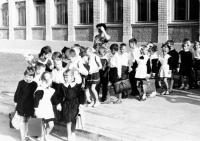 Первый учебный год школы №7. Открытие школы. 1Г класс. 1 сентября 1967 года