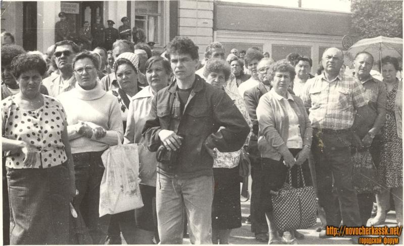 Первый митинг в день годовщины расстрела 1962 года. 2 июня 1990 г