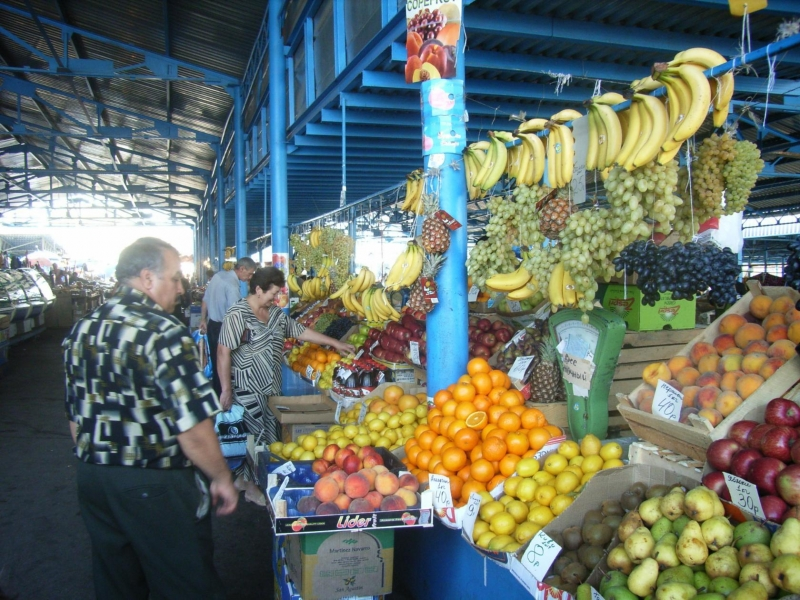 Азовский рынок - центральный рынок. 16 сентября 2005 года