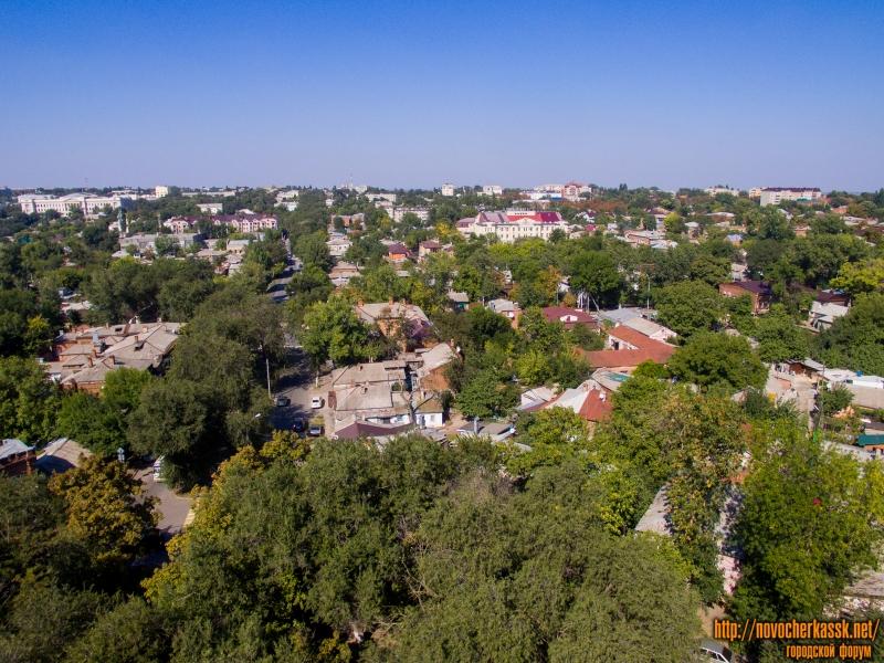 Вид с площади Левски на север вдоль улицы Пушкинской