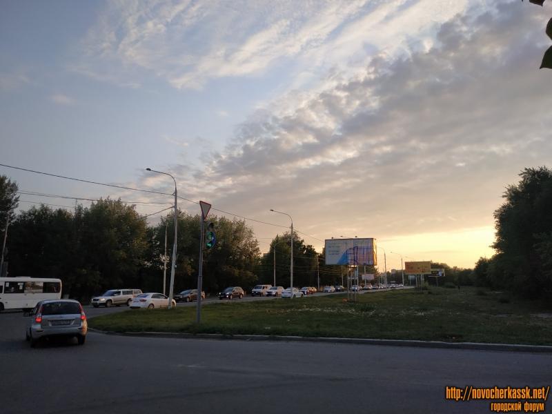 Проспект Баклановский. Вид в сторону въезда в город с переулка Магнитного