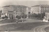 Общежитие НИМИ со стороны стадиона. Площадь Юбилейная