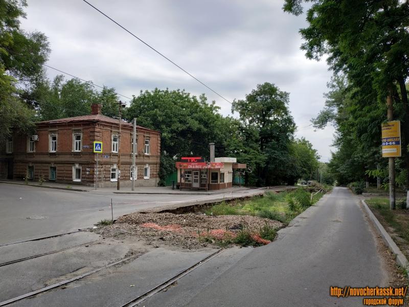 Затянувшаяся замена трамвайного пути на ул. Богдана Хмельницкого