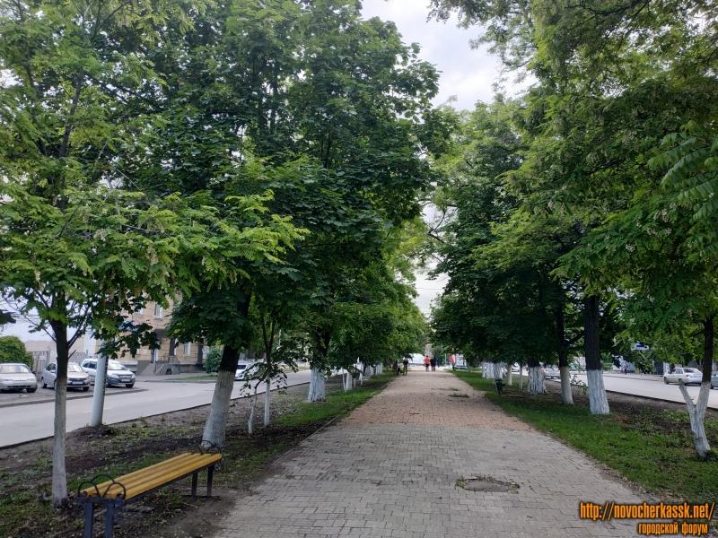 Аллея проспекта Ермака до замены плитки