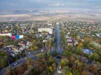 Вид на спуск Герцена и посёлки с пл. Троицкой