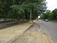 Свежеуложенная плитка на проспекте Баклановском