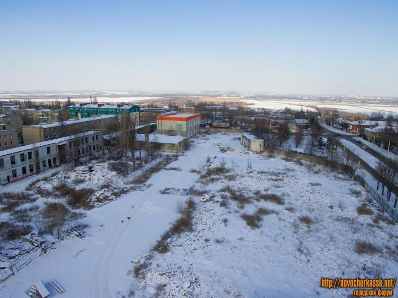 Вид на территорию на месте бывшего молокозавода