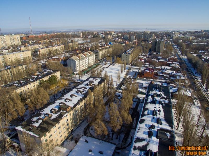 Территория студгородка ЮГРПУ (НПИ). Справа ул. Троицкая