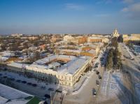 Вид на центр города, проспект Платовский, собор и ул. Московскую