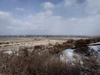 Вид на пойму Тузлова с переулка Сорокина (между домами 4А и 4Б)